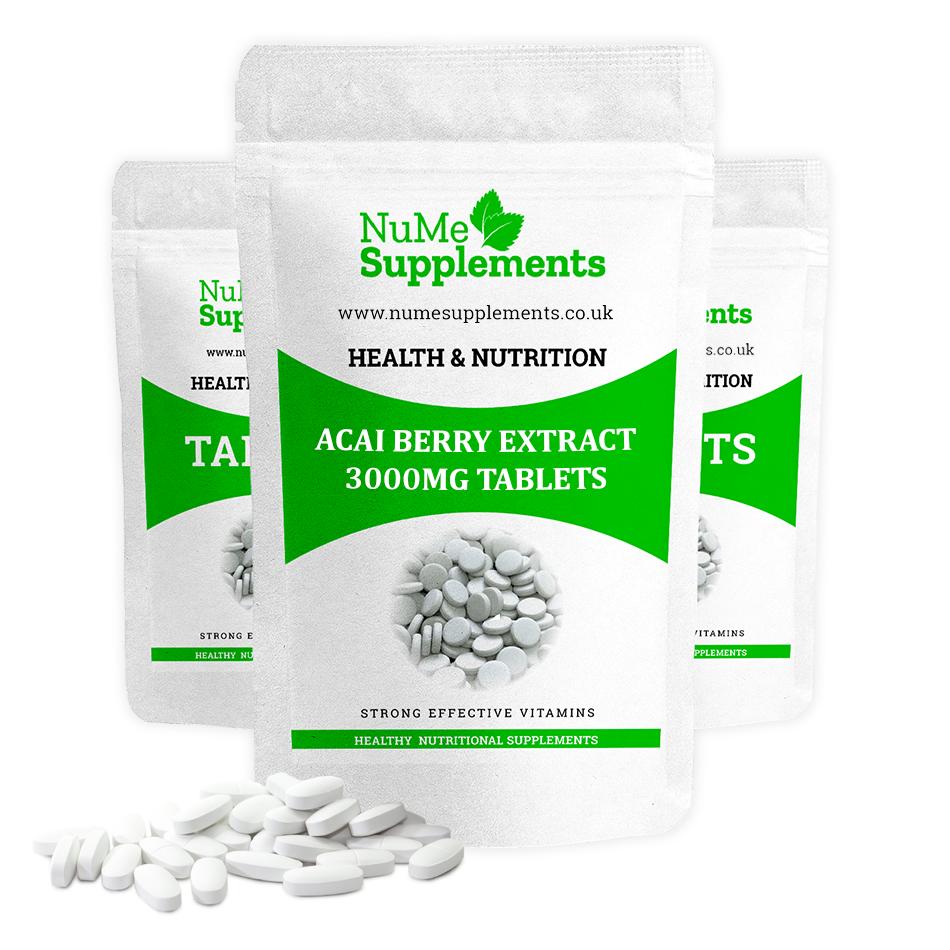 Antioxidant acai berry extract tablets