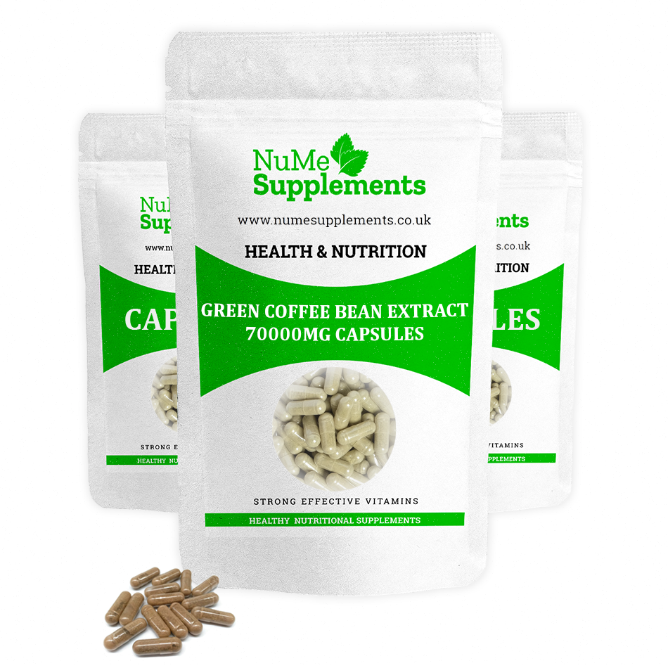 Green coffee bean extract capsules