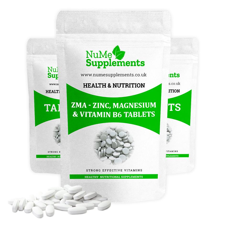 ZMA - Zinc, Magnesium & Vitamin B6 Tablets